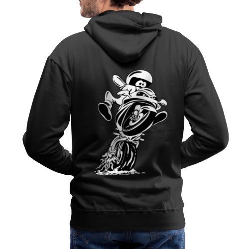 Sportbike motorcycle cartoon illustration - Men's Premium Hoodie