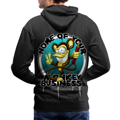 no monkey busin - Men's Premium Hoodie
