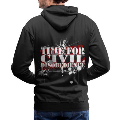 civil disobedience - Men's Premium Hoodie