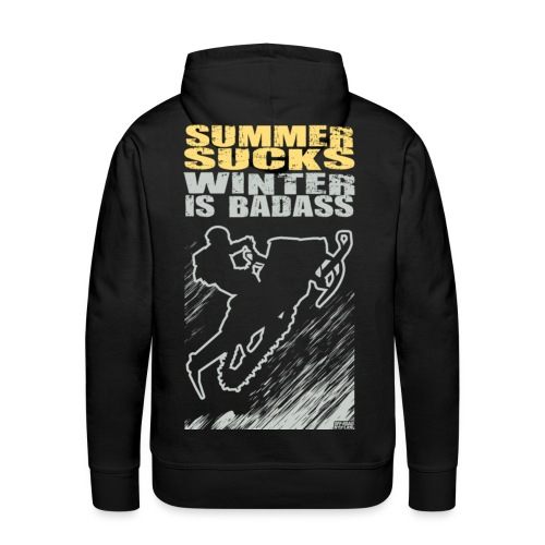 Snowmobile Summer Sucks - Men's Premium Hoodie