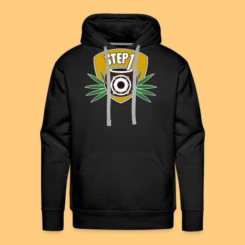 Step One Logo (Yellow) - Men's Premium Hoodie