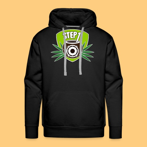 Step One Logo (Green) - Men's Premium Hoodie