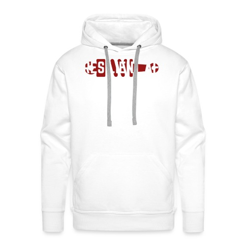 RESILIENT WHITE with red - Men's Premium Hoodie