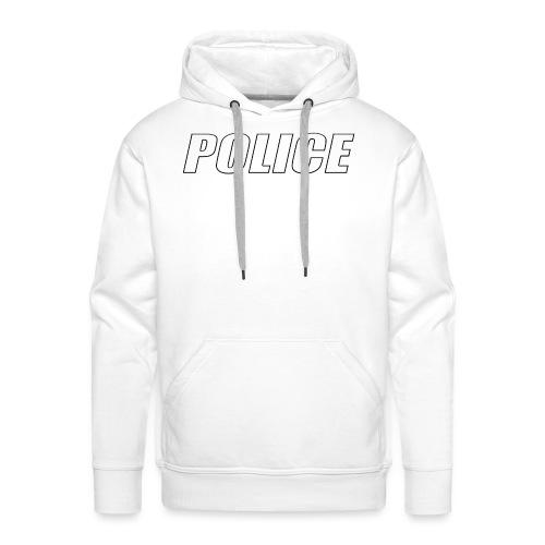 Police White - Men's Premium Hoodie