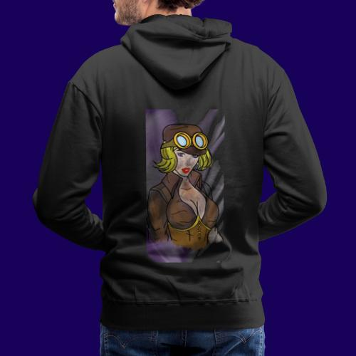 Steampunk girl - Men's Premium Hoodie
