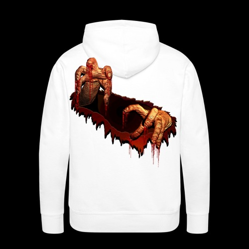 Zombie Shirts Gory Halloween Scary Zombie Gifts - Men's Premium Hoodie
