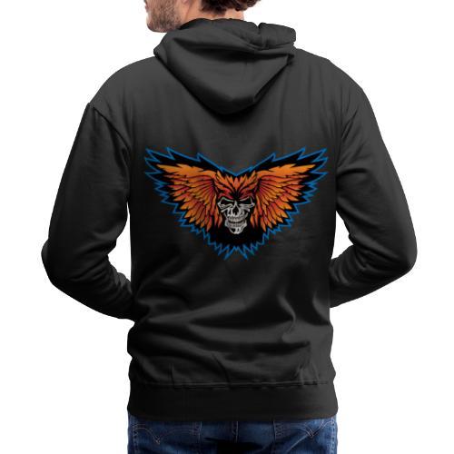 Winged Skull Illustration - Men's Premium Hoodie
