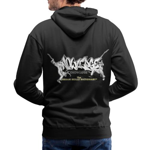 KNOWLEDGE - the urban skillz dictionary - promo sh - Men's Premium Hoodie