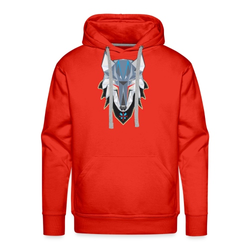 Wolf in Pixelated Clothing - Men's Premium Hoodie