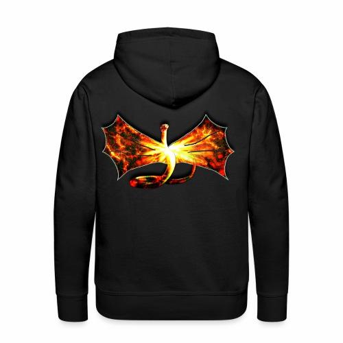 Flaming winged Serpent - Men's Premium Hoodie
