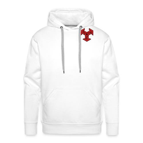 DDM Logo Red,Black,White - Men's Premium Hoodie