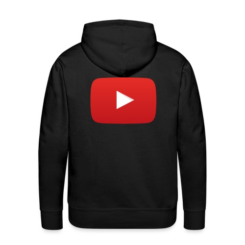 YouTube icon full color png - Men's Premium Hoodie
