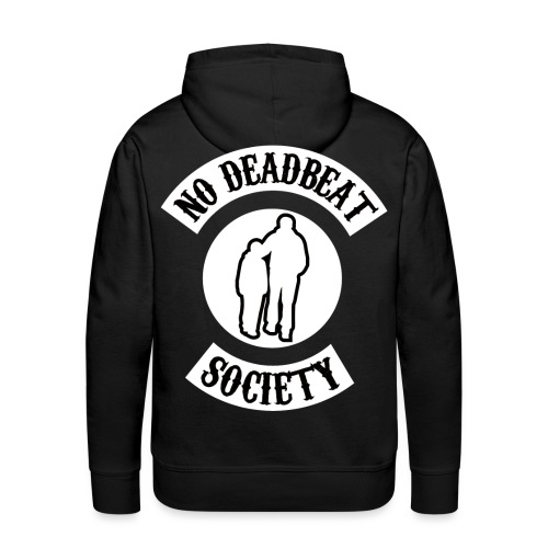 NDBS WHITE ON BLACK png - Men's Premium Hoodie