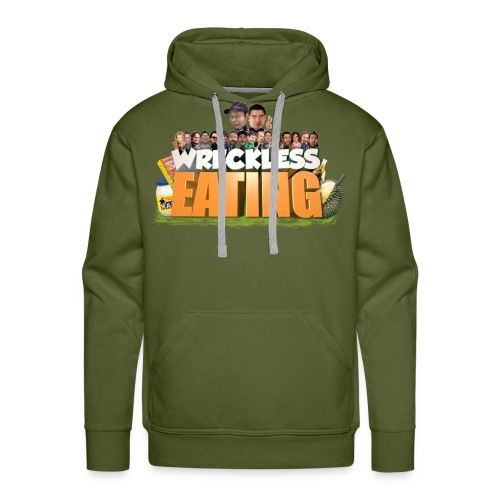 Wreckless Eating Cast Shirt 2015 png - Men's Premium Hoodie