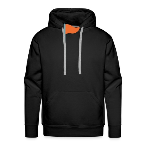 7947 triangular flag on post - Men's Premium Hoodie