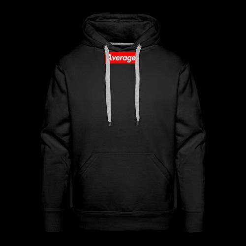 Average Supreme Logo Mockup - Men's Premium Hoodie