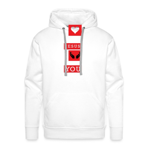 I Love You Jesus - Men's Premium Hoodie