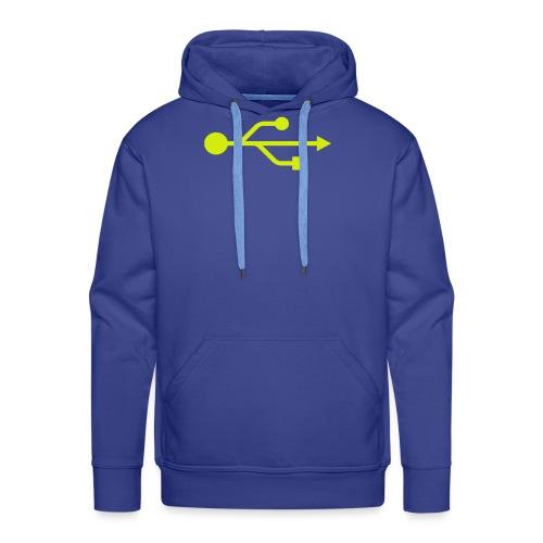 Yellow USB Logo Mid - Men's Premium Hoodie