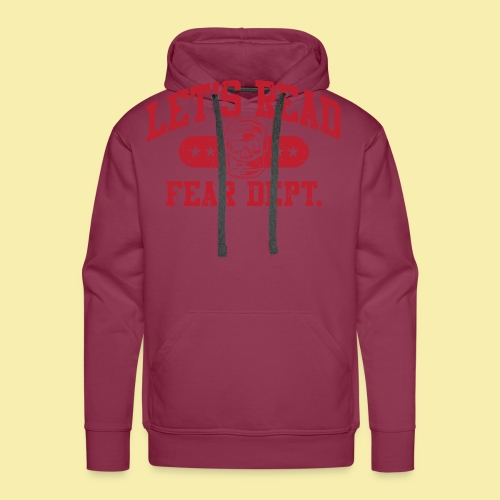 Fear Dept - Athletic Red - Inverted - Men's Premium Hoodie