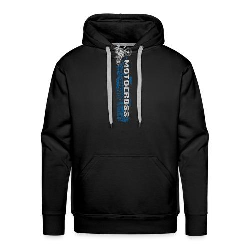 Motocross Side Panel Blue - Men's Premium Hoodie