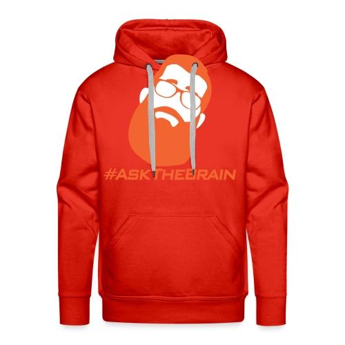 Hashtag Ask The Brain - Men's Premium Hoodie
