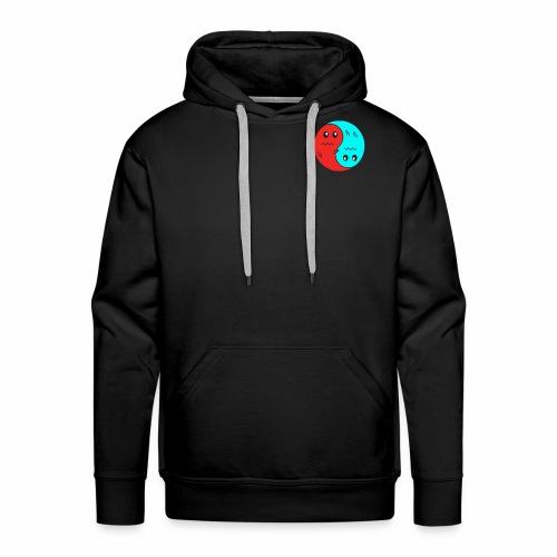 Yin And Yang Ghosts RED/BLUE - Men's Premium Hoodie
