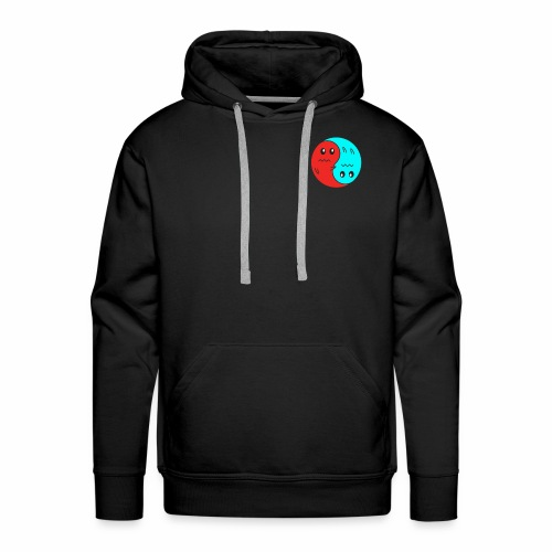 Yin And Yang Ghosts RED/BLUE - Men's Premium Hoodie