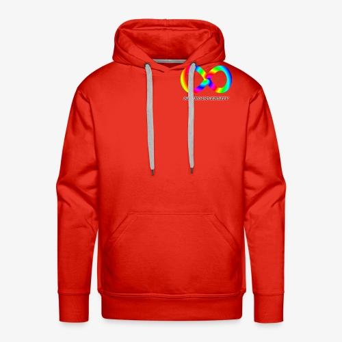 Neurodiversity with Rainbow swirl - Men's Premium Hoodie