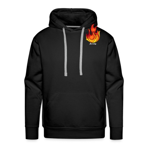 Scorchy White Logo - Men's Premium Hoodie