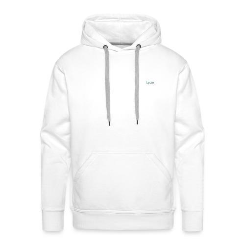 Logo Simon Lajoie Photographer White - Men's Premium Hoodie