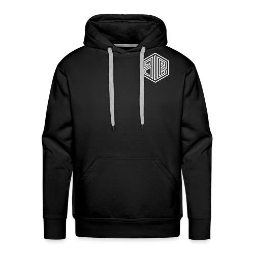 Blackout // WHITE Brand Logo > BLACK - Men's Premium Hoodie