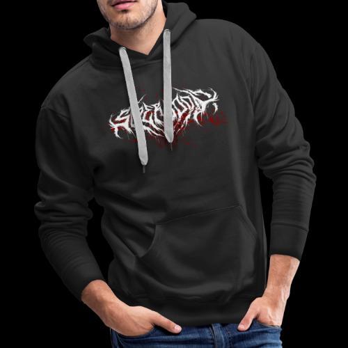 Supercool! Logo REVAMPIRED [BLOODY WHITE] - Men's Premium Hoodie