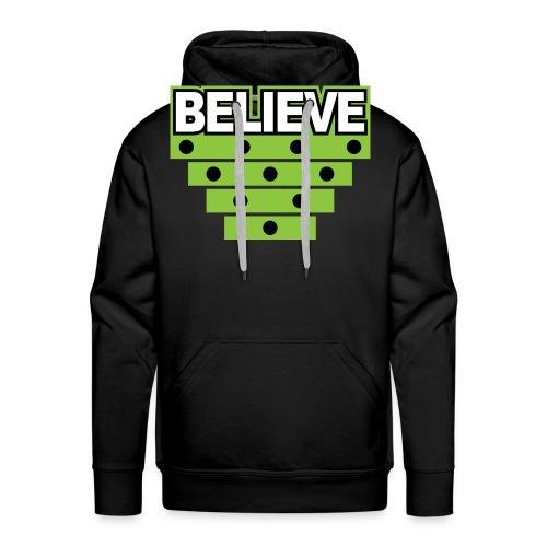 Believe Logo green - Men's Premium Hoodie