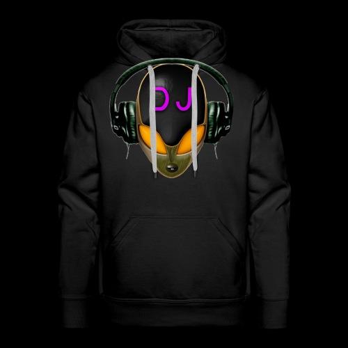 Alien DJ - Orange - Hard Shell Bug - Men's Premium Hoodie