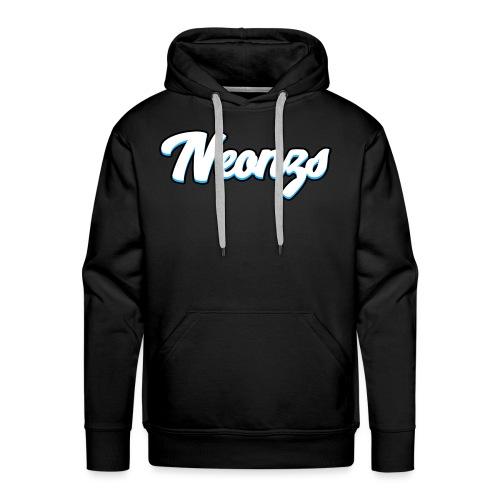 Neonzs Design Blue png - Men's Premium Hoodie