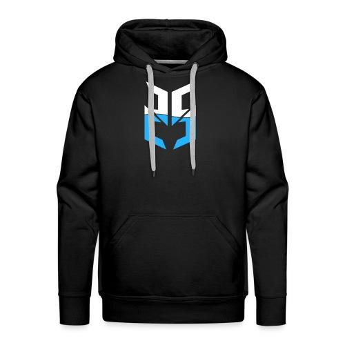 Split Logo Design Blue png - Men's Premium Hoodie