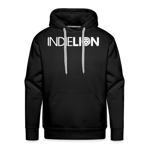 IndieLion textlogo white 01 png - Men's Premium Hoodie