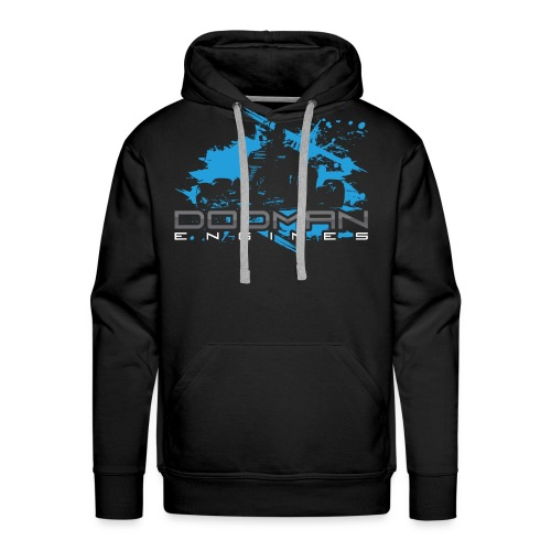 Dodman Engines design colour white png - Men's Premium Hoodie