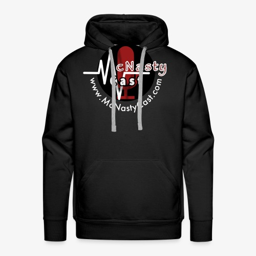 MC Logo with Web Address White - Men's Premium Hoodie