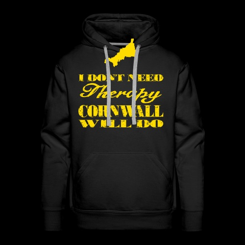 Don't need therapy/Cornwall - Men's Premium Hoodie