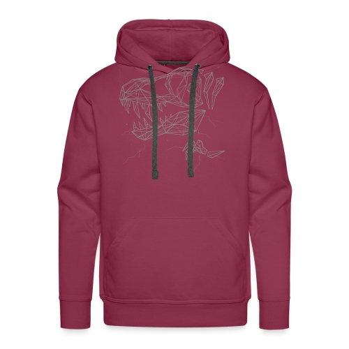 Jurassic Polygons by Beanie Draws - Men's Premium Hoodie