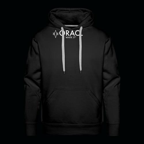 ORACL LOGO WHITE - Men's Premium Hoodie