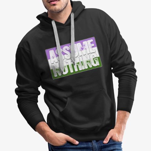 Assume Nothing Genderqueer Pride Flag - Men's Premium Hoodie