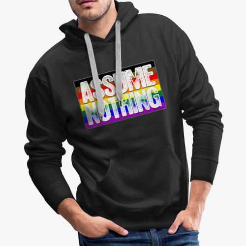 Assume Nothing Philly LGBTQ Gay Pride Flag - Men's Premium Hoodie