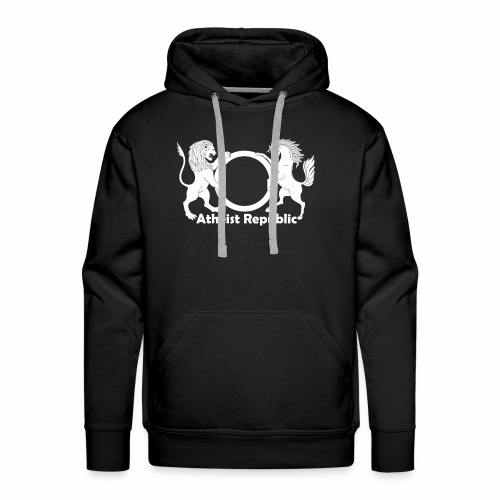 Atheist Republic Logo - White - Men's Premium Hoodie