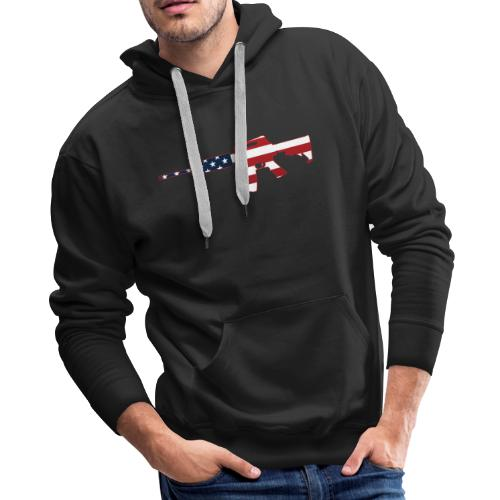 AR-15 Stars & Stripes Rifle Silhouette - Men's Premium Hoodie