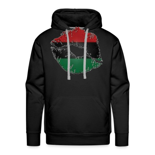 Red, black, green lips - Men's Premium Hoodie