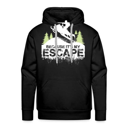 Snowmobile Because Escape - Men's Premium Hoodie