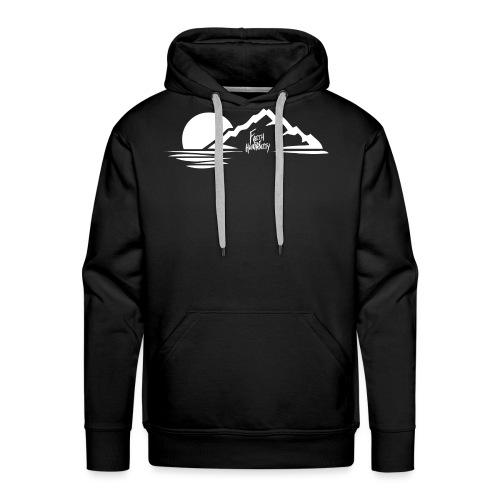 FFH MountainDesignWhite png - Men's Premium Hoodie