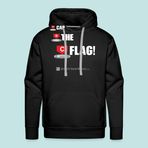 CAP THE FLAG (white) - Men's Premium Hoodie